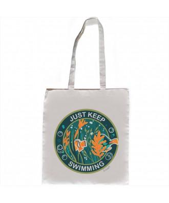 Just Keep Swimming tote bag...