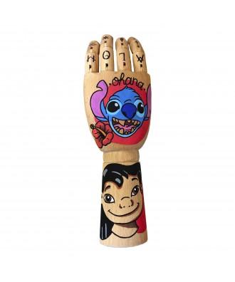 Hand painted Ohana wooden...