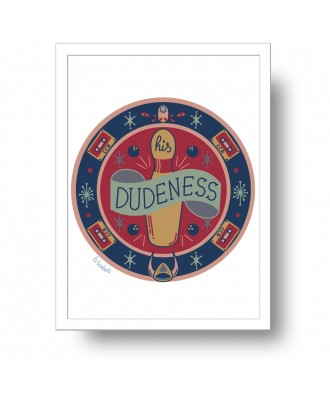 His Dudeness Rug print by...