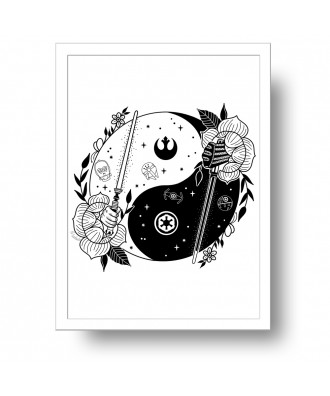 Yin Yang Force print by la...