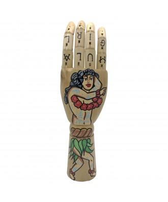 Hand Painted hula girl Hand...