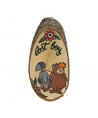 Rodaja de madera Lost Boy...