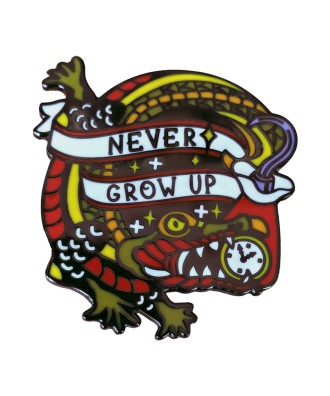 Never Grow up hook pin by...