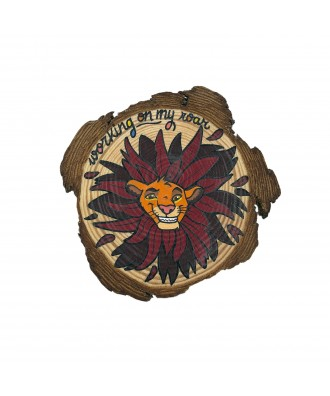 Roar Lion hand painted wood...