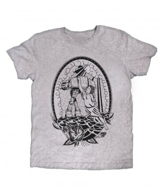 Camiseta gris Princesa Rock...