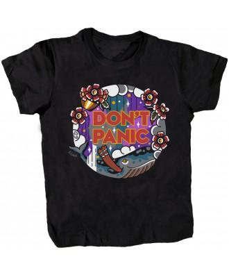 Camiseta negra Don't Panic...