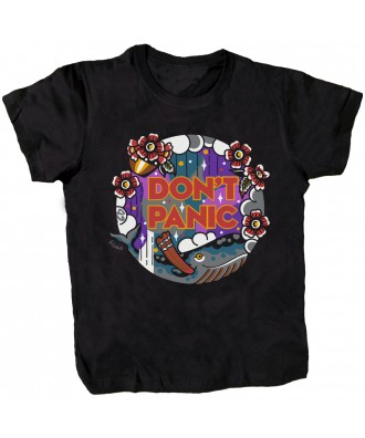 Don't Panic Whale black...