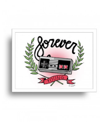 Forever Young print by la...
