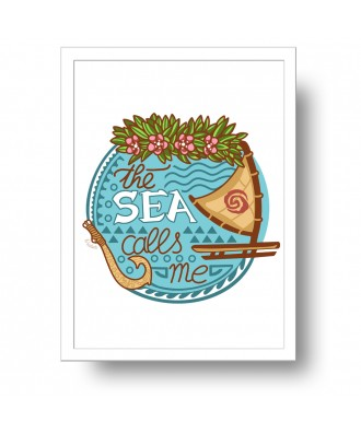 The sea calls me print by...
