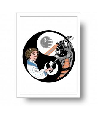 Yin Yang samurai print by...