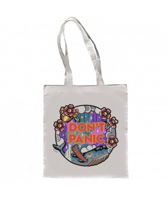 Don't Panic tote bag by la...