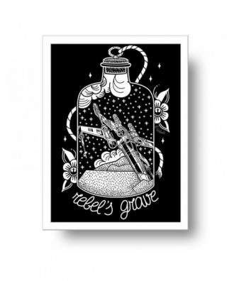 Rebel's Grave print by la...
