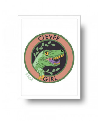 Clever Girl print by la...