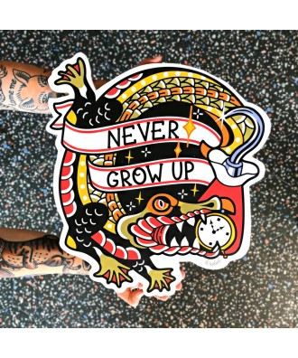 Never Grow Up Hook printed...