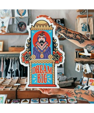 Dream Big printed wood cutout