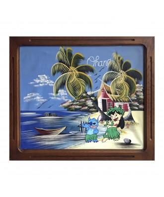 Remixed 80's painting Ohana...