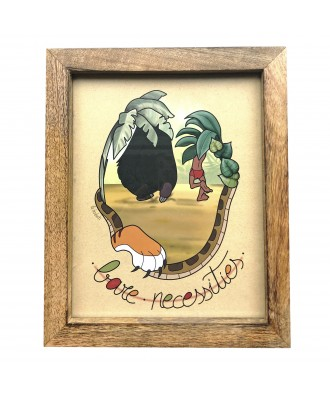 Wooden framed Bare Necessities