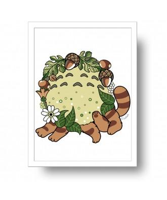 Totoro fanart print by la...