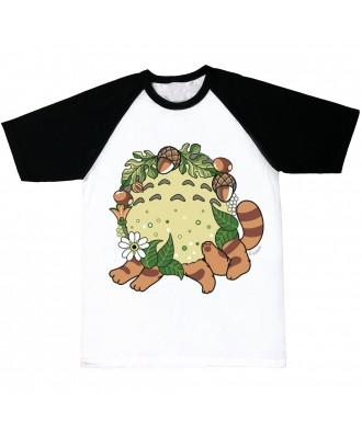 Camiseta mangas negras Totoro