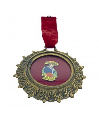 Medallón de bronce antiguo...