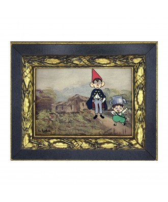 Remixed vintage painting...
