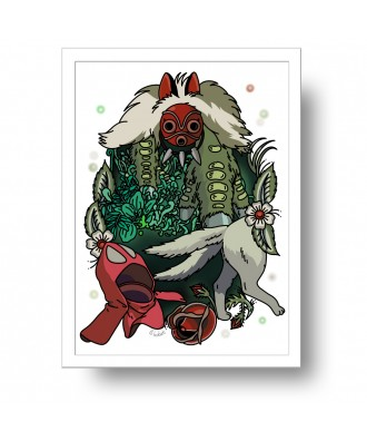Mononoke print by la barbuda