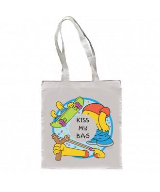 Kiss my bag tote bag by la...