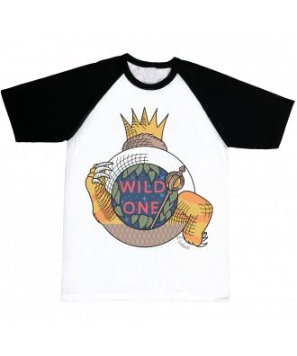 Camiseta mangas negras Wild...