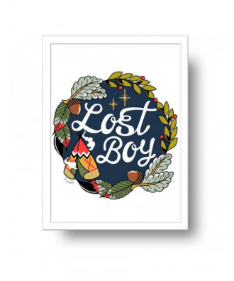 Lost Boy print by la barbuda