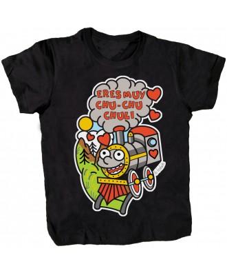 Camiseta negra Eres muy chu...