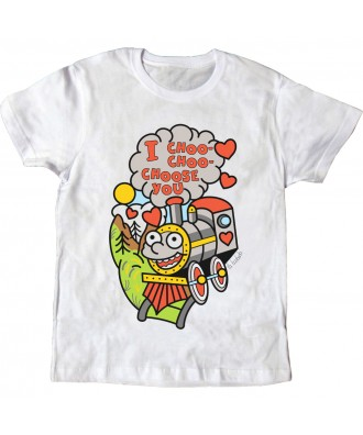 Camiseta blanca I choo choo...