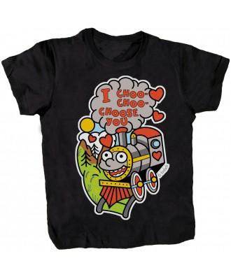 Camiseta negra I choo choo...