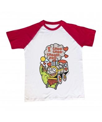 Camiseta mangas rojas...