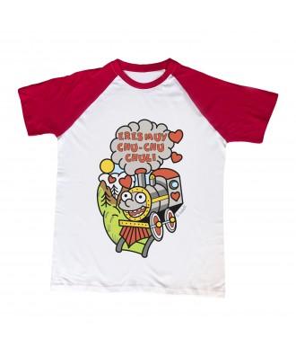 Camiseta mangas rojas Chu...