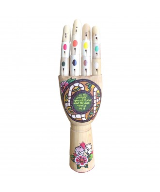 Hand Painted wooden hand In...