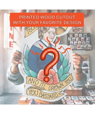 Printed wood cutout with...