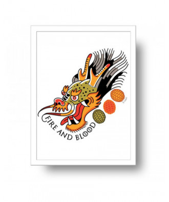 Fire and Blood Dragon print...