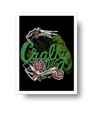 Scissorhands Crafty print...