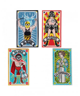 Pack de 4 parches Lucha Libre