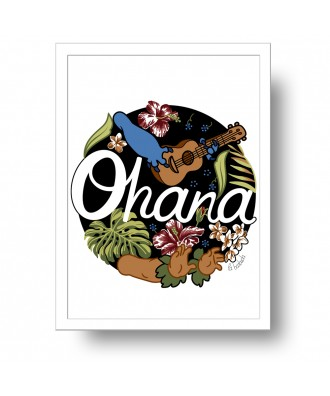 Ohana means family print by...