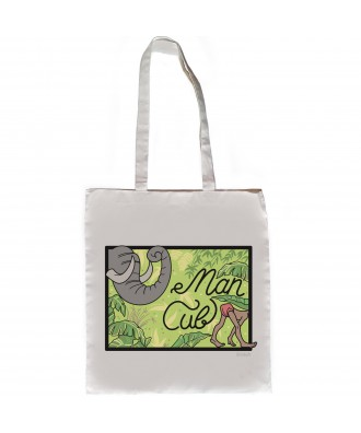 Man Cub jungle tote bag by...