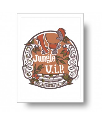Jungle VIP print by la barbuda