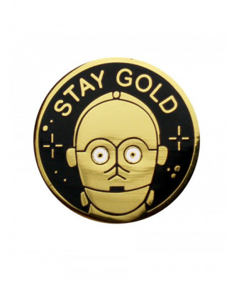 Stay Gold pin by la barbuda