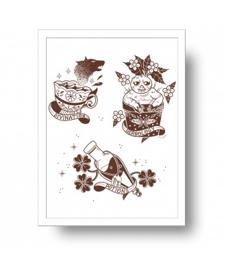 Magic subjects print by la...