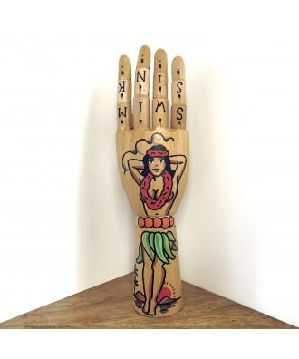 Mano de madera Hawaiiana...