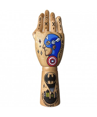 Custom hand painted hand by...