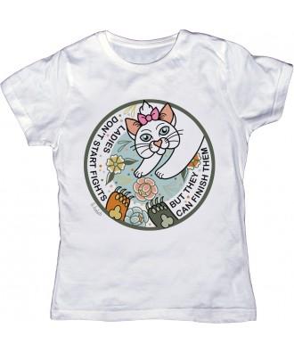 Camiseta blanca una dama no...