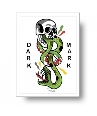 Dark Mark print by la barbuda