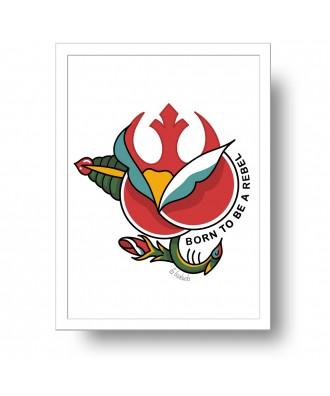 Lámina Born to be a rebel
