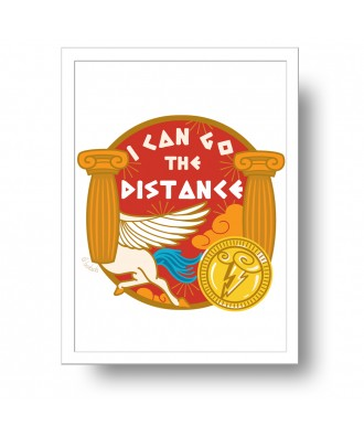 I can go the distance print...